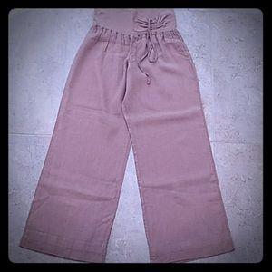NWOT bebe Linen Wide Leg Pants